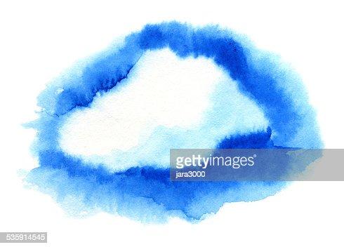 Nuvem. Ilustração em Aquarela : Ilustração de stock