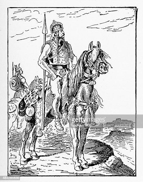 Clovis the First, 465-511 A.D. Engraving