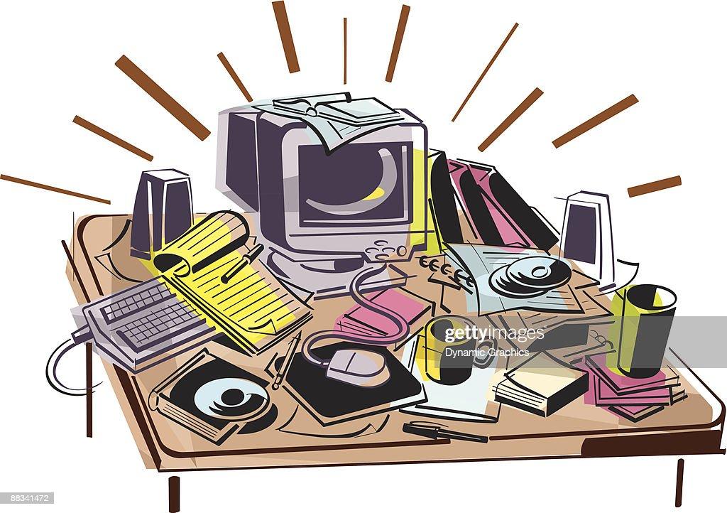 messy office desk clipart messy cluttered office desk workspace rh activavida co messy desk clipart free messy office desk clipart