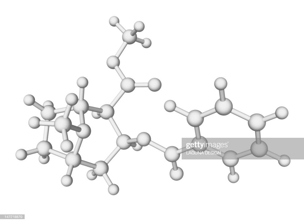 Cocaine drug molecule : Stock Illustration
