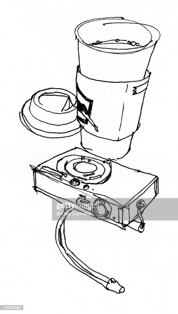 Coffee and Digital Camera : Stock Illustration