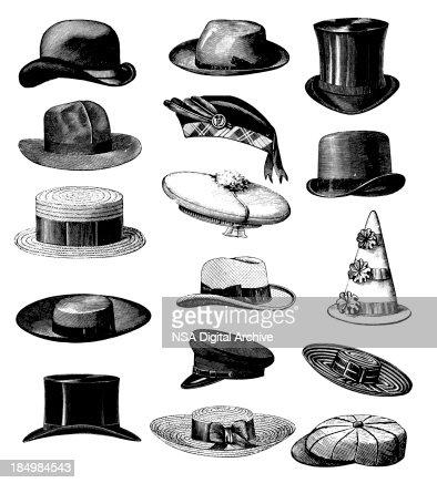 Collection De Vieux Vintage Classique De La Mode Masculine ...