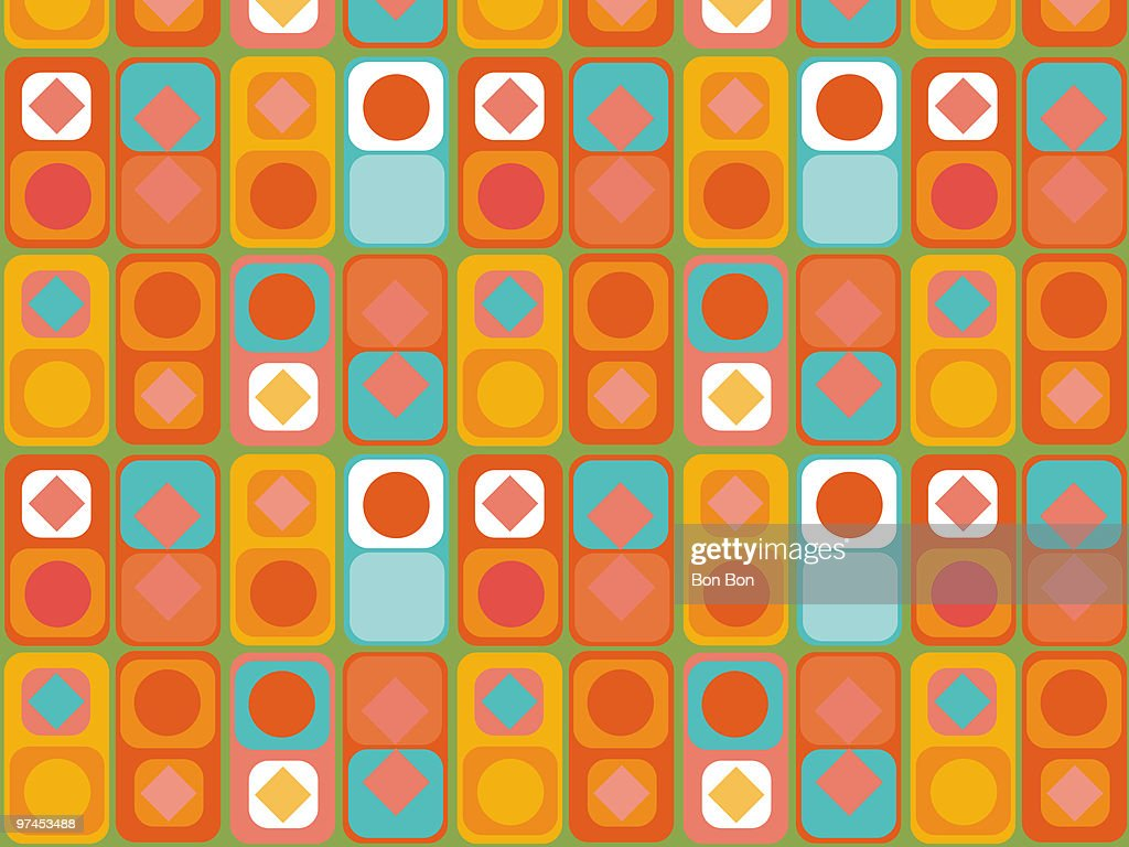 A colorful and vibrant pattern : Stock Illustration