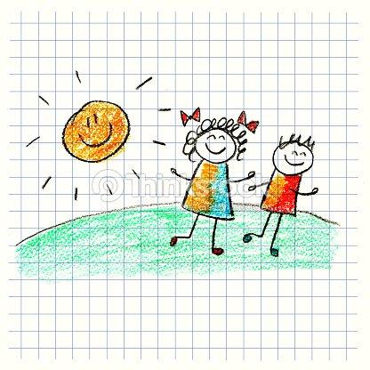 Colorido cuadro con gusto a los ni os ilustraci n de stock for Cancion de bienvenida al jardin