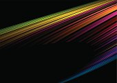 Colorful rainbow illustrated background with lots of copy space