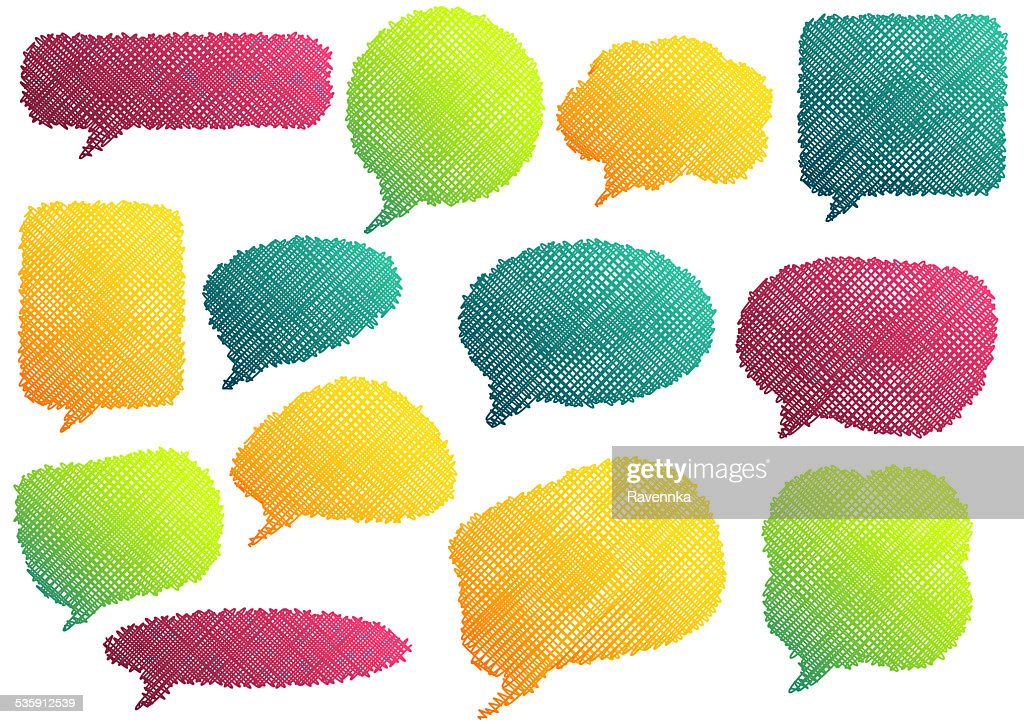 Colorful speach bubbles : Stock Illustration