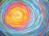 colorful spiral sun power background watercolor painting
