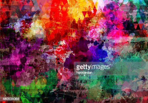 Colorful wall background : Stockillustraties