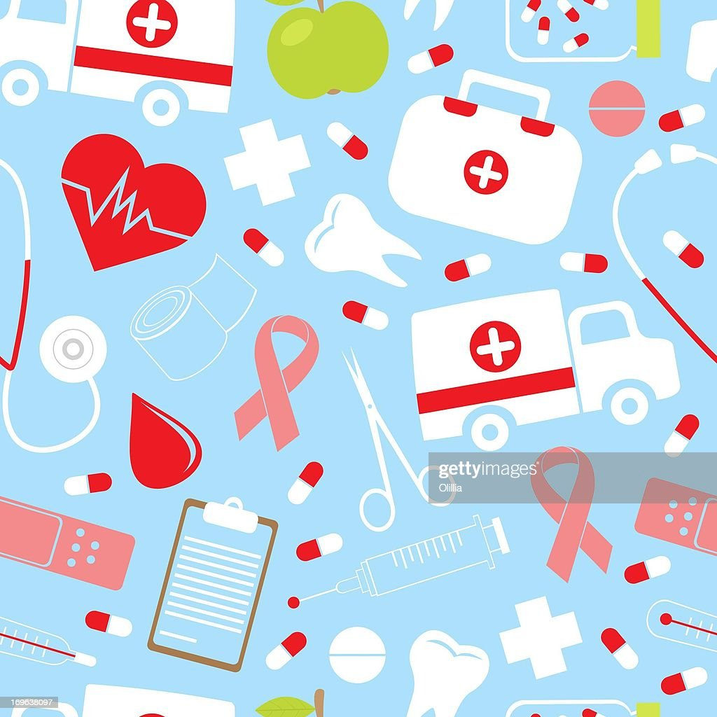 Colorful_medical_pattern : Stock Illustration