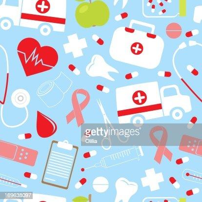 Colorful_medical_pattern : Stock Illustration