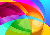 Abstract form and colour background. Vector illustration.