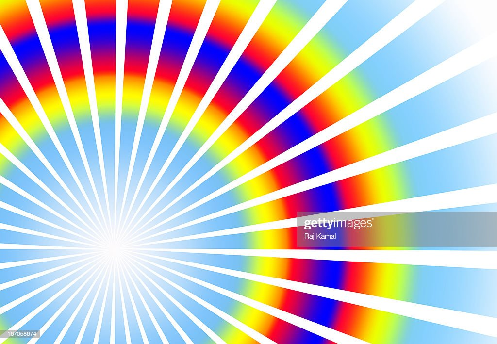 Colourful Glowing Rays.Abstract Design : Stock Illustration