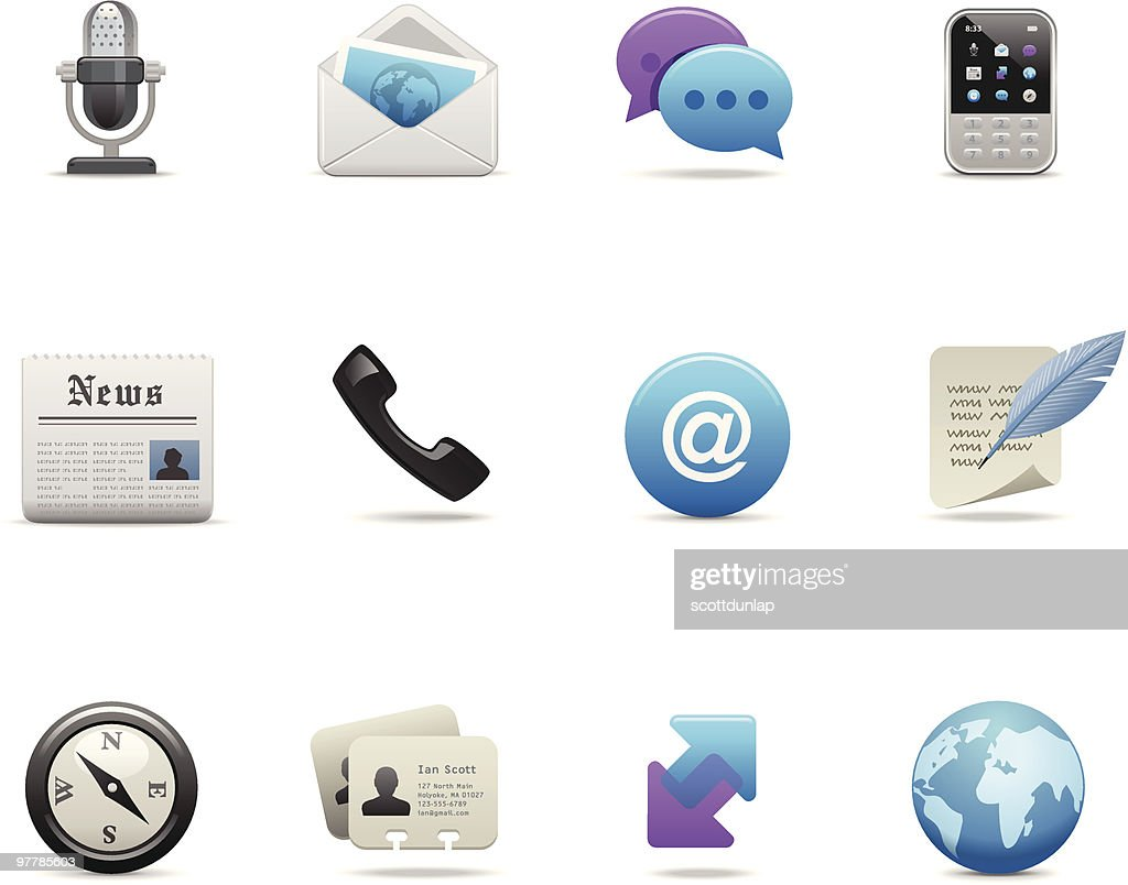 Satin Icons | Communication : Vector Art
