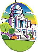 Congressional building in Washington DC