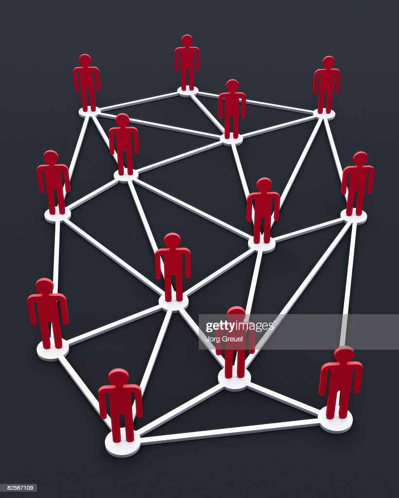 Connected stick figures : Stock Illustration