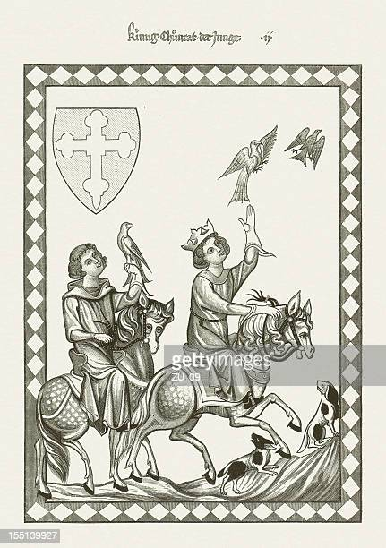 Conradin (1252-1268, from Codex Manesse), wood engraving, published in 1880