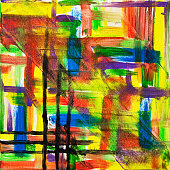 Original abstract oil painting on canvas.Multi colored wallpaper. Modern art concept. Contemporary project'n