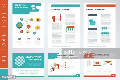 Content Marketing Report Book Cover And Presentation Template