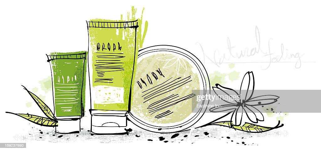 Cosmetics : Stock Illustration