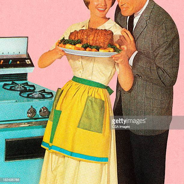 Couple Admiring Roast
