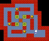 Crates, retro style game pixelated graphics