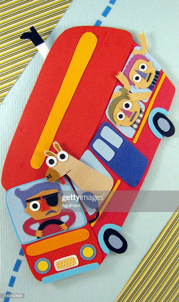 Crazy bus : Stock Illustration