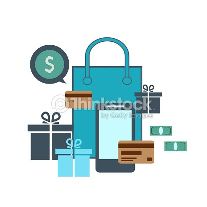 c5b935ae7cd Credit Card And Smartphone The Concept Of Online Shopping Stock ...