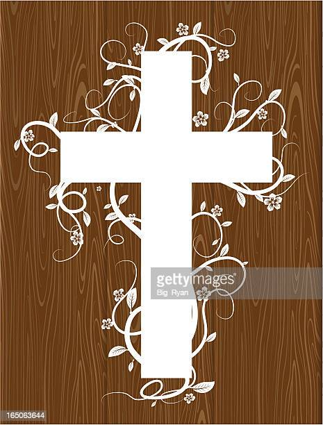 cross on wood