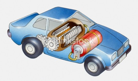 Cross Section Ilration Of Electric Motor In Saloon Car