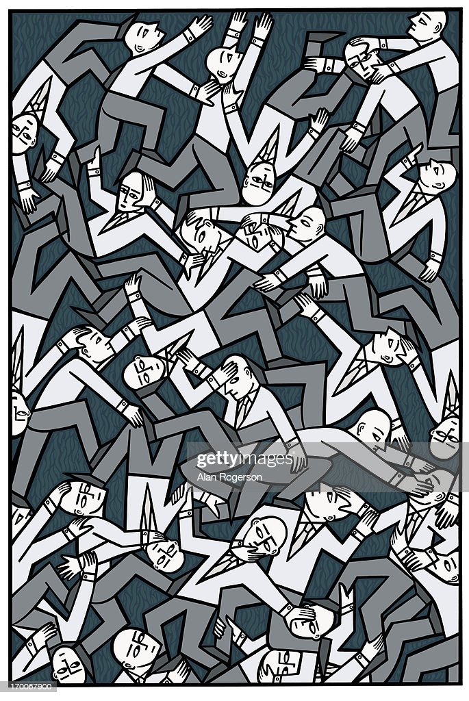 A crowd of people : Stock Illustration