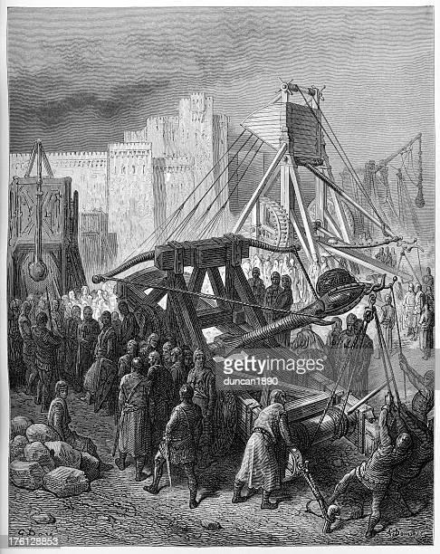 Crusaders War Machines - Trebuchet and Catapult