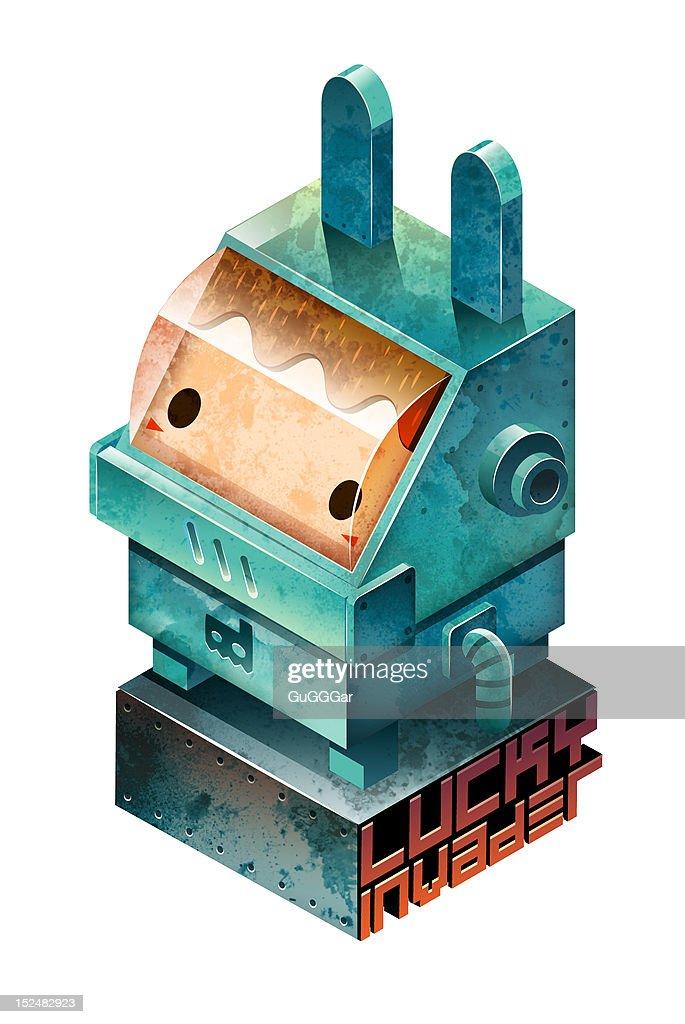 Cube armor suit : Stock Illustration
