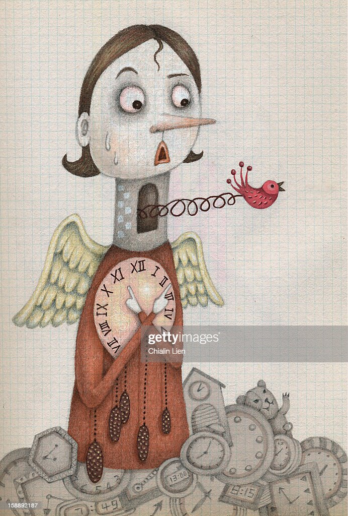 Cuckoo Clock : Stock Illustration