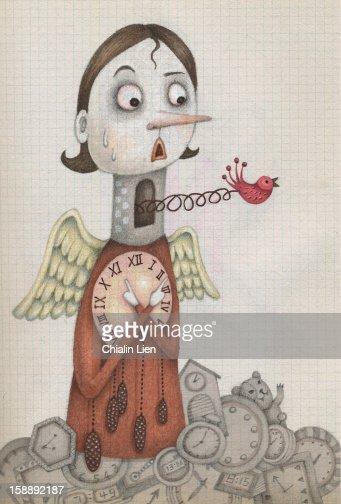Cuckoo Clock : Stockillustraties