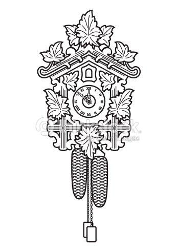 2830574334d Relógio de Cuco   Arte vetorial