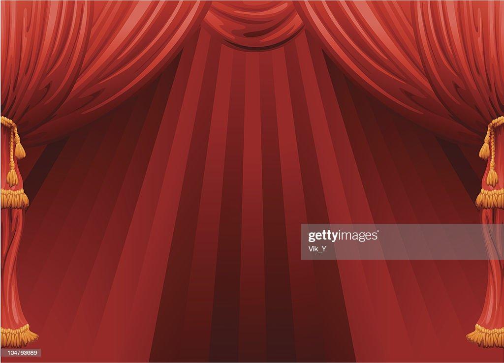 curtain : Vector Art