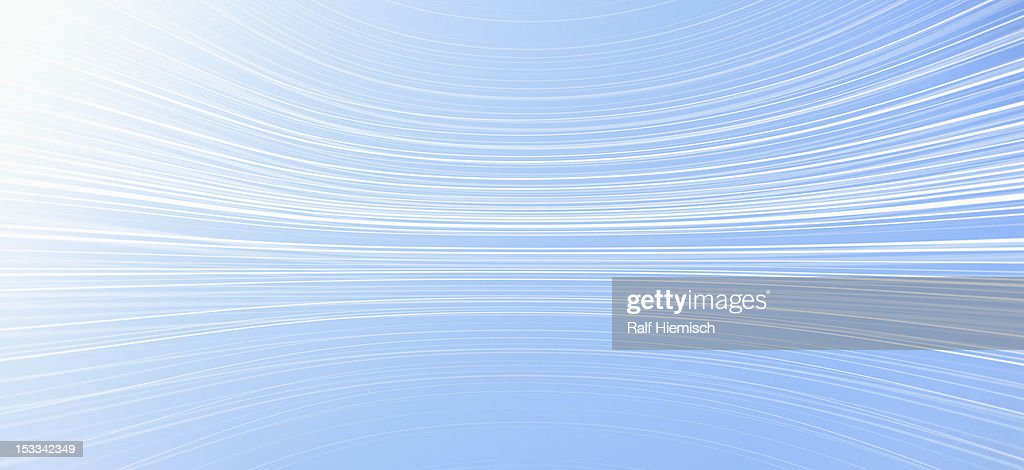Curved lines against a blue background : Stock Illustration