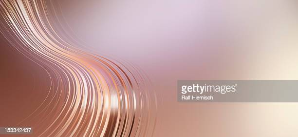 Curved lines against an abstract background
