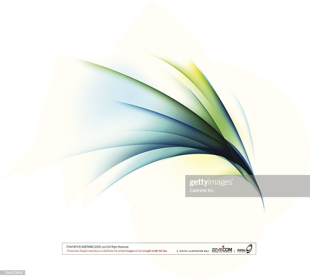 Curved shape on white background : Vector Art