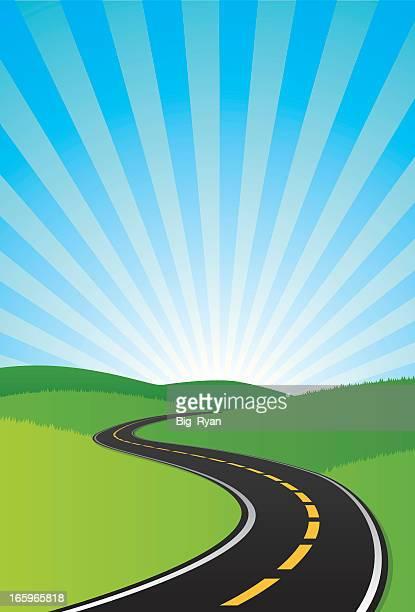 curvy road sfondo