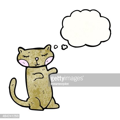 cute cartoon cat : Stock Illustration