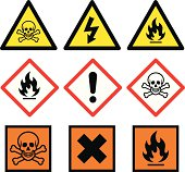 """Danger related vector signs for your design, website or presentation."""