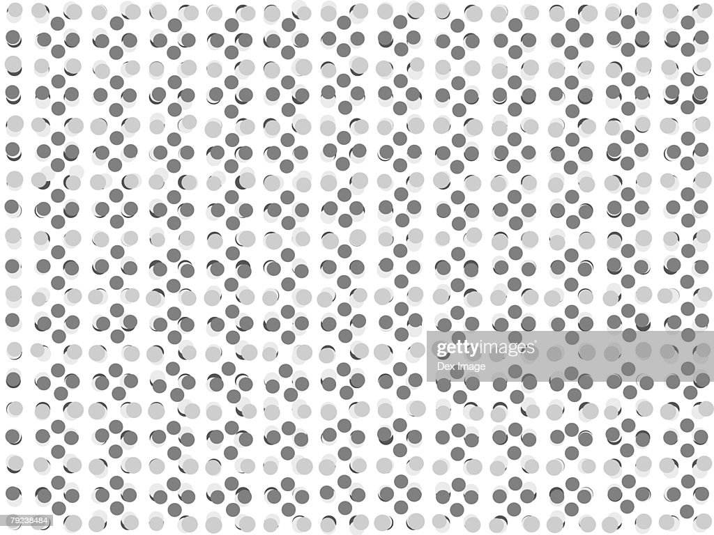 Dark and light gray dotted pattern against white background : Stock Illustration