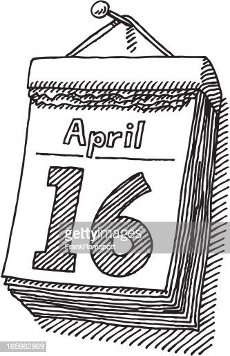 Calendar Illustrations : Day calendar drawing vector art getty images