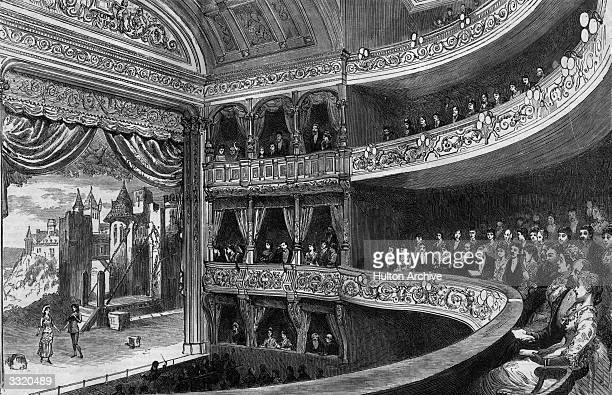 Gilbert and Sullivan's 'Patience' on stage at the Savoy Theatre with a full audience Original Publication The Graphic The Savoy Theatre pub 1881...