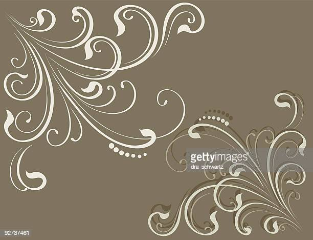 Decorative corner , Vector