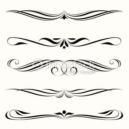 Decorative elements border and page rules stock vector for Greche decorative