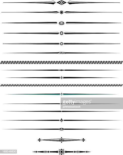 Dekorative Linien zwei