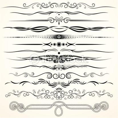 Linee di regola decorativi arte vettoriale thinkstock for Greche decorative