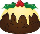 delicious Xmas fruitcake pudding dessert